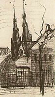 St. Catharina-s Church at Eindhoven, 1885, vangogh