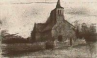 St. Martin-s Church at Tongelre, 1885, vangogh