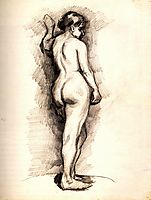 Standing Female Nude Seen from the Back, c.1886, vangogh