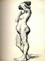 Standing Female Nude Seen from the Side, 1886, vangogh