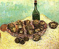 Still Life Bottle, Lemons and Oranges, 1888, vangogh