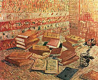 Still Life - French Novels and Rose, c.1888, vangogh