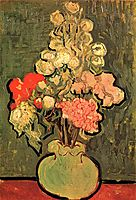 Still Life Vase with Rose-Mallows, 1890, vangogh
