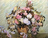 Still Life Vase with Roses, 1890, vangogh