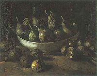 Still life with an Earthern bowl and pears, 1885, vangogh