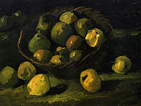 Still Life with Basket of Apples , 1885, vangogh