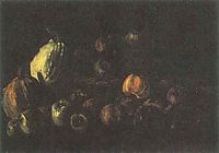 Still life with a basket of apples and two pumpkins, 1885, vangogh