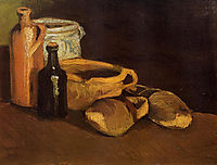 Still Life with Clogs and Pots , 1884, vangogh