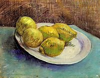 Still Life with Lemons on a Plate, 1887, vangogh