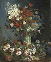 Still life with meadow flowers and roses, 1886, vangogh