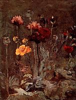 Still Life with Scabiosa and Ranunculus, 1886, vangogh
