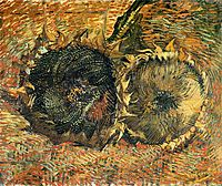 Still Life with Two Sunflowers, 1887, vangogh