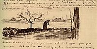 Stooping Woman in Landscape, 1883, vangogh