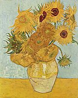 Sunflowers, 1888, vangogh