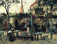 Terrace of a Cafe on Montmartre , 1886, vangogh
