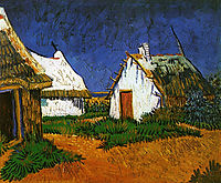 Three White Cottages in Saintes-Maries , 1888, vangogh