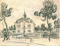 The Town Hall at Auvers, 1890, vangogh