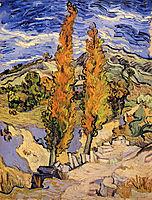 Two Poplars on a Hill , 1889, vangogh