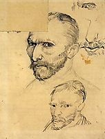Two Self-Portraits and Several Details, 1886, vangogh