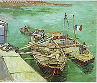 The Unloading, 1888 (aug), vangogh