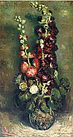 Vase of Hollyhocks, 1886, vangogh