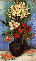 Vase with Carnations and Other Flowers, 1886, vangogh