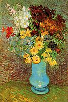 Vase with Daisies and Anemones, 1887, vangogh