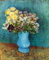 Vase with Flieder, Margerites und Anemones, 1887, vangogh