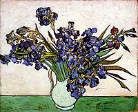 Vase with Irises, 1890, vangogh