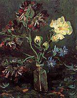 Vase with Myosotis and Peonies, 1886, vangogh