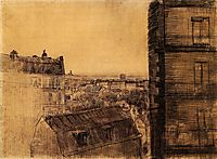 View from the Apartment in the Rue Lepic, 1887, vangogh