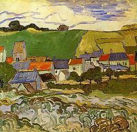 View of Auvers , 1890, vangogh