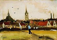 View of The Hague with the New Church, 1882, vangogh