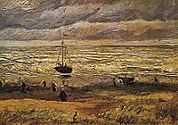 View of the Sea at Scheveningen, 1882, vangogh