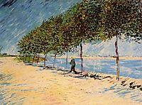 Walk Along the Banks of the Seine Near Asnieres, 1887, vangogh