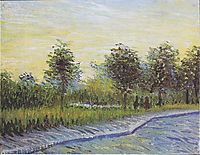 Way in the Voyer d-Argenson Park in Asnieres, 1887, vangogh