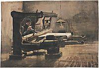 Weaver Facing Right, 1884, vangogh