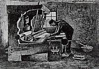 Weaver Standing in Front of a Loom, 1884, vangogh