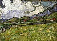 Wheat Field behind Saint-Paul Hospital with a Reaper , 1889, vangogh