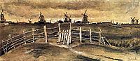 Windmils at Dordrecht , 1881, vangogh