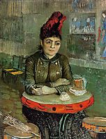 Woman in the -Cafe Tambourin-, 1887, vangogh