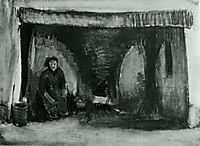 Woman by the Fireplace, 1885, vangogh