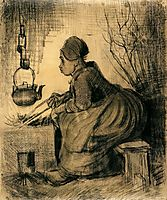 Woman by a Hearth, 1885, vangogh