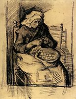 Woman Peeling Potatoes, 1885, vangogh