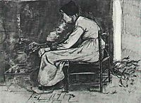 Woman Sitting at the Fireside, 1881, vangogh