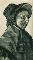 Woman with Hat, Head, 1882, vangogh
