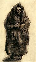 Woman with a Mourning Shawl, 1885, vangogh