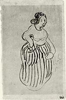Woman with Striped Skirt, 1890, vangogh