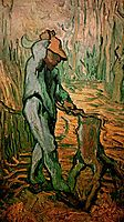The Woodcutter after Millet, 1890, vangogh