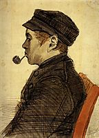 Young Man with a Pipe, 1884, vangogh